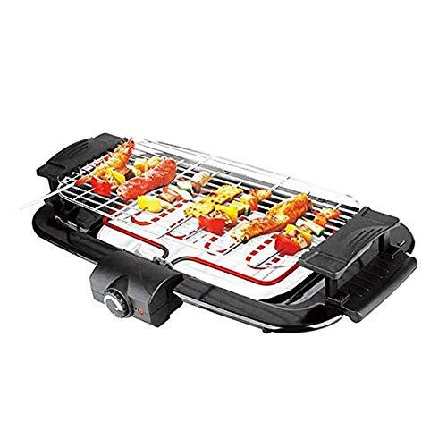 LOGO Sin Humo Parrilla en el Interior Potencia Grill Parrilla eléctrica, portátil y compacta Antiadherente Parrilla de Barbacoa, Ideal for la Familia/Partido