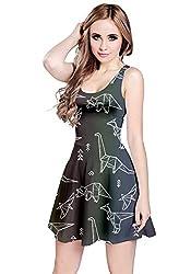 8. CowCow Womens Dinosaur Summer Sleeveless Summer Party Dress