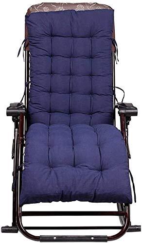 Cojín para asiento Cojín de Espuma Memoria Cojín p Patio Tumbona Cojines portátil de viaje de vacaciones Jardín Veranda cubierta del amortiguador de aire de gamuza de algodón Tumbona (Azul / Negro / r