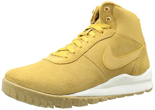 Nike Hoodland Suede, Zapatillas Altas para Hombre, Marrón/Blanco (Hystck/SL-gm Lght Brwn-mtllc G), 42.5 EU