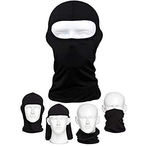 Amasawa bicicletta Premium maschera per esterni equitazione tattica Go Fishing antipolvere freddo moto copricapo maschera da sci maschera nero 1 pack