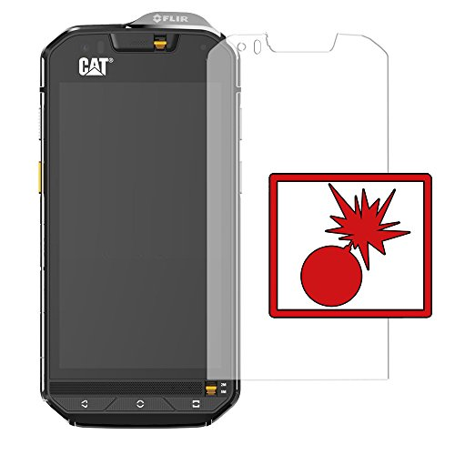 Slabo 2 x Protector de Pantalla blindado para Cat S60 Shockproof A Prueba de Golpes Invisible Made IN Germany