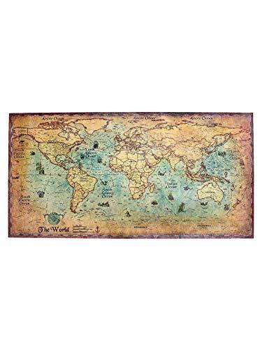 SNIIA nautische oceaan zee wereldkaart retro oud kunstdrukpapier schilderij wooncultuur sticker woonkamer poster café antiek affiche