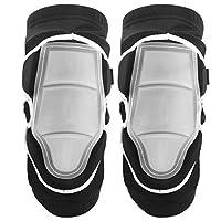 膝サポートパッド、伸縮性のある2個の膝サポート、スケートローラースケートスキー滑走用に厚みのある通気性(M)