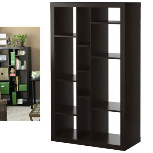 Ikea Expedit Bookcase / Tv Stand Multi-use Black-brown