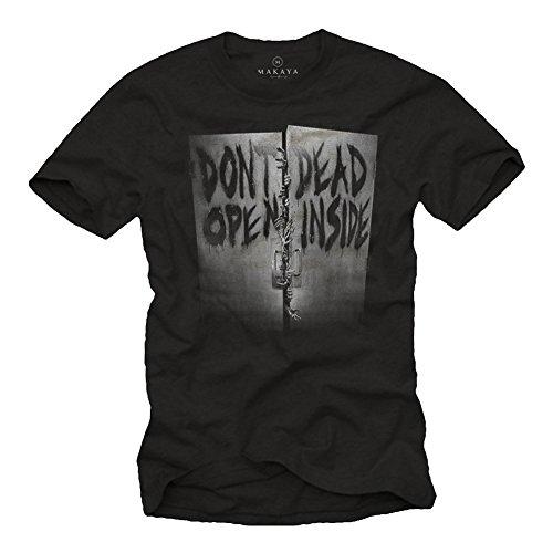 Walking Dead T-Shirts Don´T Open Dead Inside schwarz Größe L