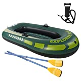 WBJLG Inflatable Dinghy Boat Fishing, Inflatable Boat for Kids with Oars, Touring Kayak, Inflatable Rafts for Adults