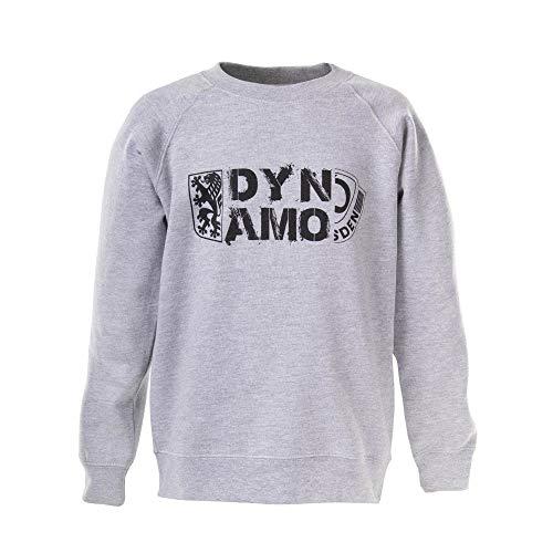 SG Dynamo Dresden Kinder-Sweater Wappen grau, Größe:122-128/7-8