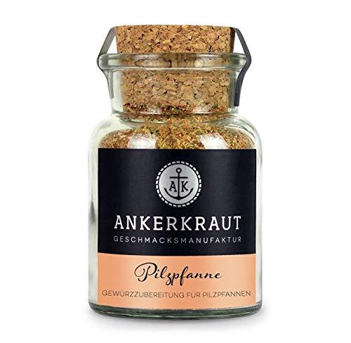 Ankerkraut Pilzpfanne, Gewürzmischung für verschiedene Pilze, wie Champignons, Austernpilze oder Steinpilze, 75g im Korkenglas