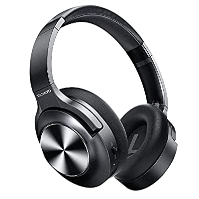Active Noise Cancelling Headphones VANKYO C750 Wireless Bluetooth Headphones Over Ear with CVC 8.0 Mic Microphone, Hi-Fi Stereo, Deep Bass with 30H Playtime for Travel Work TV PC Cellphones by Vankyo