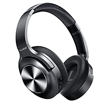 Active Noise Cancelling Headphones VANKYO C750 Wireless Bluetooth Headphones Over Ear Headset with CVC 8.0 Mic Hi-Fi Sound Deep Bass 30H Playtime Protein Earpad for Travel Work Online Class-Black