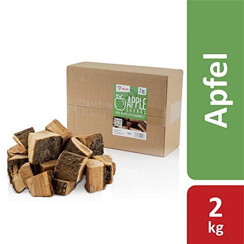 BBQ-Toro Apfel Chunks Räucherchunks | 2 kg | rauchintensive Holzchunks aus Apfelholz | Räucherklötze für Gasgrill, Smoker, BBQ (2)
