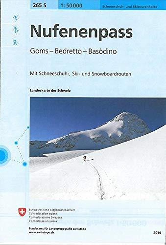 265S Nufenenpass Schneeschuh- und Skitourenkarte: Goms - Bedretto - Basòdino: Goms - Bedretto - Basòdino - Bosco Gurin. Con Itinerari - Sci e Snowboard (Skitourenkarten 1:50 000)
