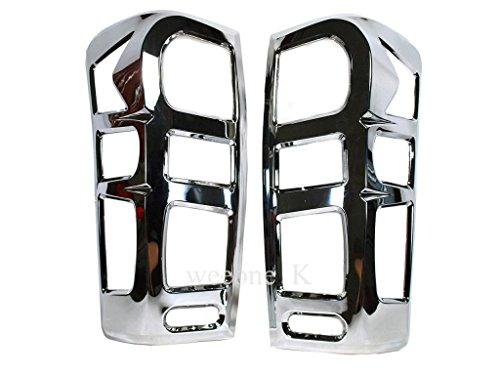 Aftermarket Accessory Chrome Rear Tail Light Taillight Lamp Cover Trim for Isuzu D-max Dmax 2012 2013 2014 2015 V.2