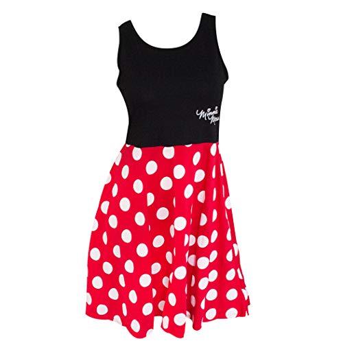 Disney Adult Junior Minnie Mouse Polka Dot Cosplay Dress X-Large