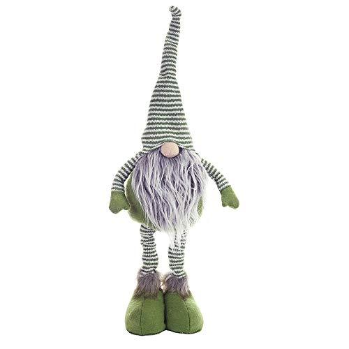 BLEVET Handmade Muñeca de Navidad Hecha a Mano Fiesta de Año Gnomo Figuras Suecas Decoración MZ098 (Green)