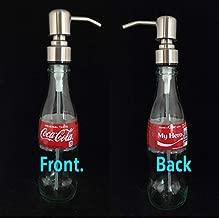 Glass Dispenser for Soap Lotion Repurposed Soda Bottle 8 Oz My Hero