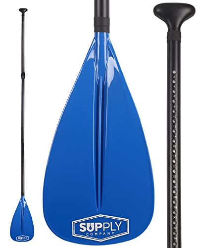 Alloy SUP Paddle - 3 Piece Adjustable Stand Up Paddle Board Paddles - Floating Paddleboard Paddle with Aluminum Shaft & Nylon Blade - Stand-Up Paddleboarding Oar for Travel