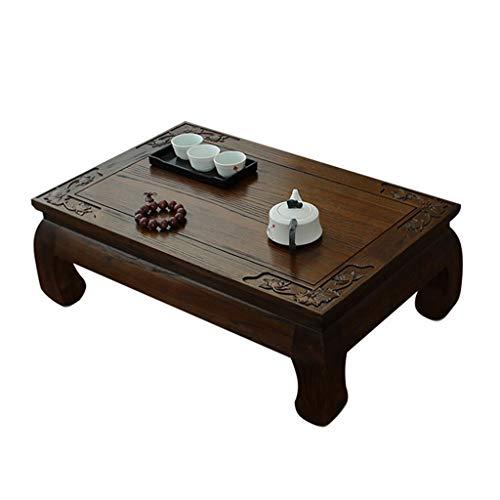 Tables Basse en Bois Baie Vitrée Tatami Basse Petite Basse Salon D'échecs Petite Balcon Petite Basse D'ordinateur Basses