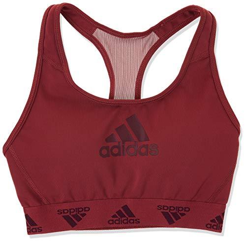 adidas womens Don't Rest Alphaskin Badge of Sport Bra Legacy Red/Maroon Medium