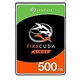 Seagate FireCuda, 500 GB, Disco duro interno híbrido, SSHD de alto rendimiento, 2,5 in, SATA, 6...