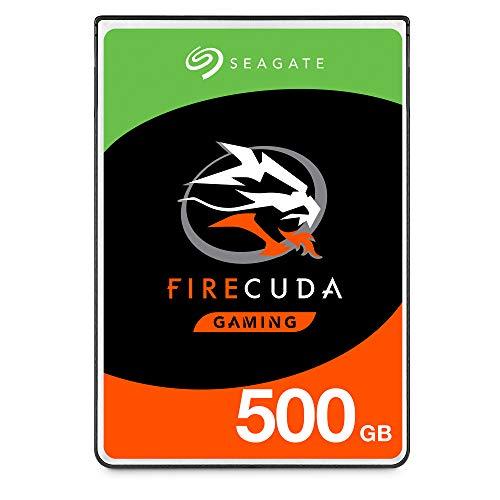 """Seagate FireCuda, 500 GB, Unità ibrida SSD, Unità SATA da 6 GBit/s, 2,5"""", Accelerata Flash, Pacchetto di Facile Apertura, 3 Anni di Servizi Rescue (ST500LX025)"""
