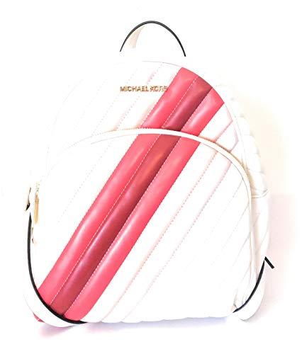 Michael Kors Mochila Abadía blanca roja 25x30x13cm de cuero nuev