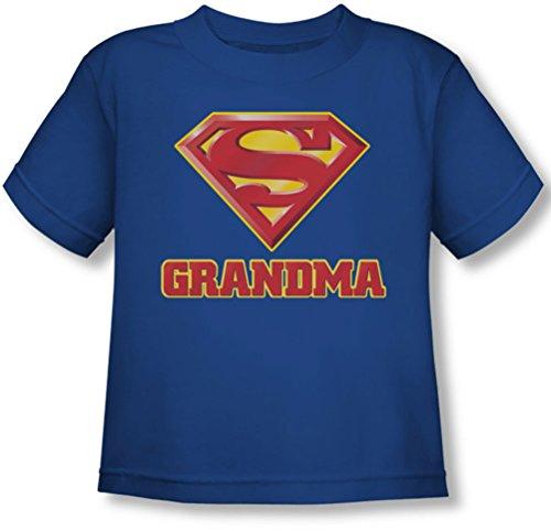 Superman - - Toddler grand-mère T-shirt super, 4T, Royal Blue