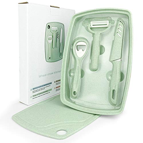 CARTINTS 5 In1 Camping Cutting Board for Kitchen Plastic...