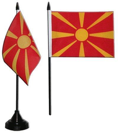 Flaggenfritze® Tischflagge Mazedonien 10x15 cm
