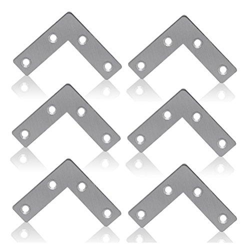 OUNONA 10pcs L-Form Flach T Form Winkelplatte Ecke Abstutzung Reparatur Halter 10stk,60 mm * 60 mm