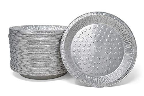 (60 Pack) Premium 9-Inch Pie Pans l Disposable Aluminum Foil l Heavy-Duty l Tin Plates for Tart Quiche Pies