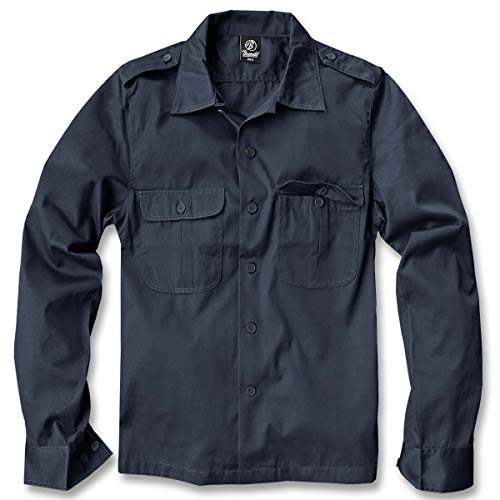 Brandit US Hemd Langarm Navy - XXL