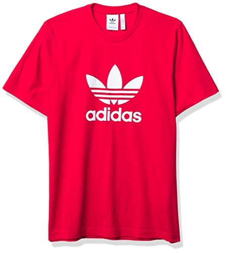 adidas Originals Camiseta de trébol para hombre - rojo - X-Large