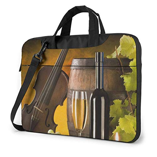 Laptop Case Computer Bag Sleeve Cover French Wine Grape Waterproof Shoulder Briefcase