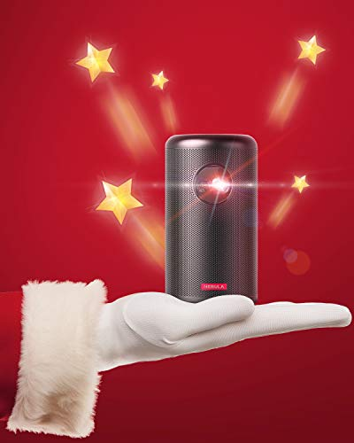 """Nebula Capsule II Smart Mini Projector, by Anker, 200 ANSI Lumen 720p HD Portable Projector with Wi-Fi, DLP, Android TV 9.0, 8W Speaker, 100"""" Image, 5,000+ Apps, Movie Projector, Home Entertainment"""