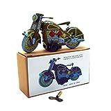 Fine Motorcycle Toys,Tinplate Nostalgic Clockwork Chain Toy...