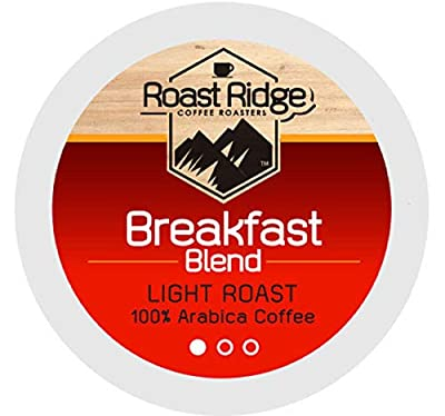 Roast Ridge Single Serve Coffee Pods Compatible with Keurig K-Cup Brewers, Breakfast Blend, 100 Count