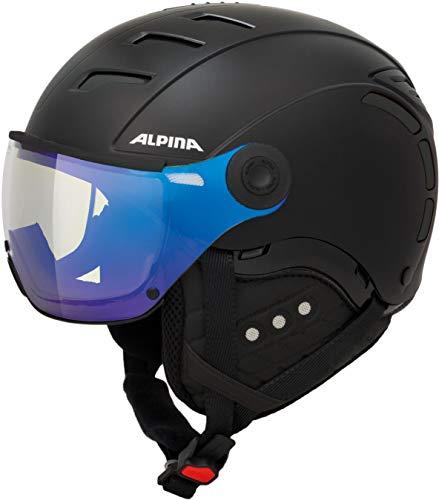 ALPINA JUMP 2.0 VM Skihelm, Unisex– Erwachsene, black matt, 52-54