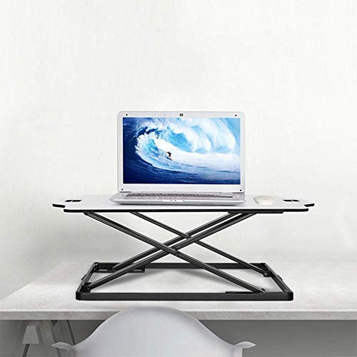 HYY-YY Stand Up Desk Sit Stand Desktop Computer Workstation Adjustable Stand Up Desk For PC Computer Screen Keyboard Laptop (Color : White, Size : One size)