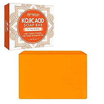 Kojic Acid Soap for Face & Body - All Natural Kojic Acid with Turmeric Skin Soap Bar - Kojic Face Soap for Even Tone Bright Complexion Glowing Skin - 4oz Kojic Acid Soap for All Skin Types Made in USA