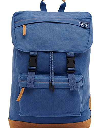 Superdry Womens W9110149A Waxed Canvas Topload Backpack, Wedgewood, One Size