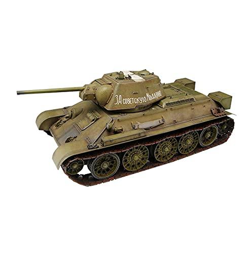 CMO Maquetas de Maquetas de Tanques, Tanque Mediano T-34-76 1943 Kits Modelo de Plástico, Escala 1/16, 14,6 X 7,4 Pulgadas