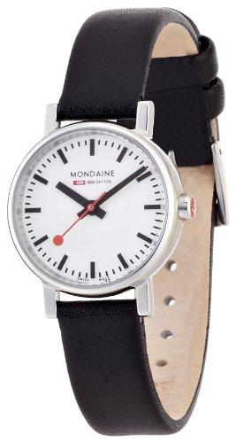 モンディーンMONDAINE 腕時計 エヴォ レディース ホワイト文字盤 ブラックレザーストラップ A658.30301.11SBB レディース 正規輸入品