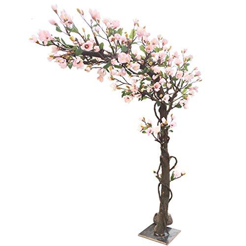 DUOER home Artificial Magnolia Tree Simulación Árbol de Flores Falsas Piso Grande Madera Maciza Artificial Árbol de Plantas Falsas 1.5 Metros de Alto Decoración del hogar (tamaño : 1.5 * 1 Meter)