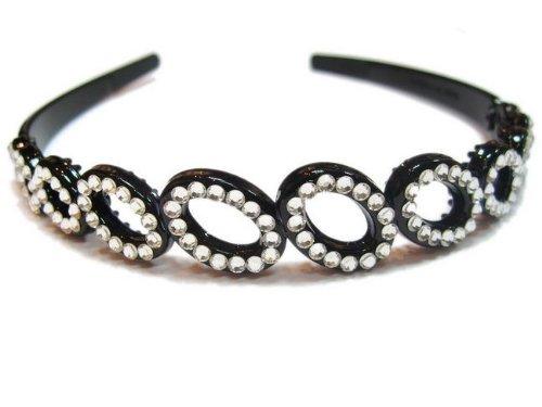 rougecaramel–Accesorios Cabello–Invernadero de cabeza/Headband CÉRÉMONIES o bodas de cristal de Swarovski–blanco