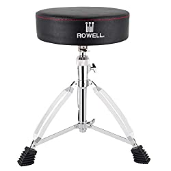 in budget affordable ROWELL Drum Sloan Universal Improved Drummer Seat Padded Portable Drum Chair Height Adjustable …