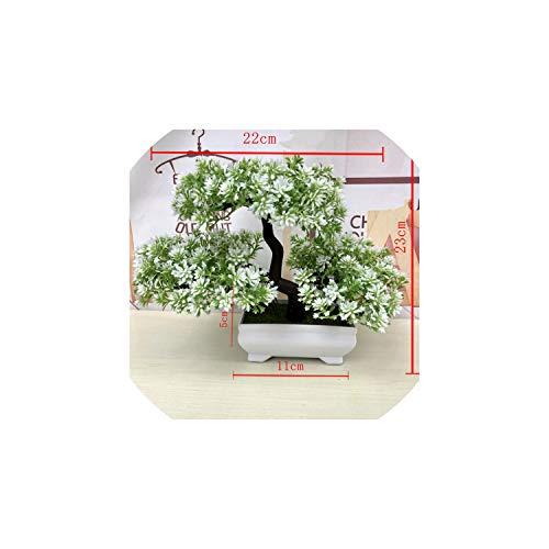 mallcentral-EU Artificial Flower Piante Verdi Artificiali Bonsai Simulazione di plastica Piccolo Albero in Vaso Vaso da Fiori Ornamenti per la casa Tavolo Decorazione del Giardino, D