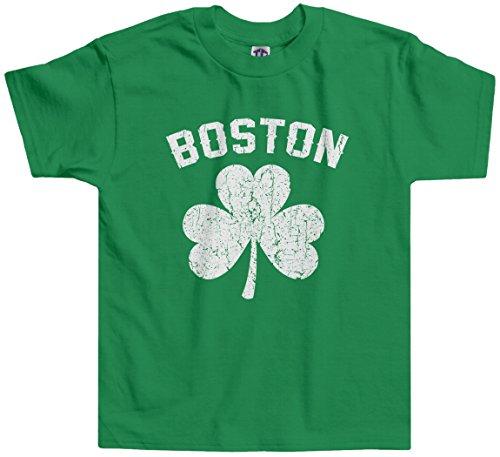 Threadrock Little Boys' Boston Shamrock Irish Pride Toddler T-Shirt 2T Kelly Green
