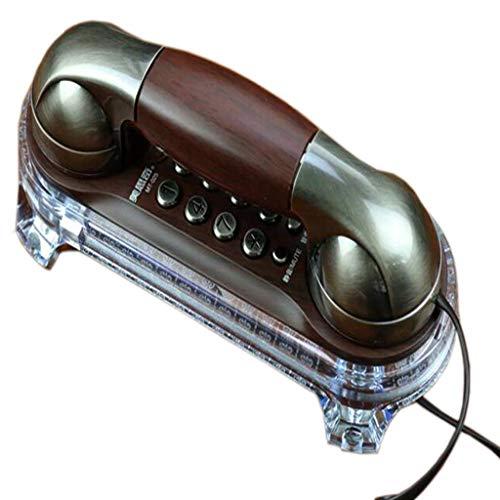 LXYZ Retro Phone Home Montado en la Pared Botón Dial Mesa de Pared Doble Uso Vintage Fijo Fijo
